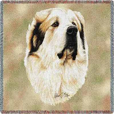 Lap Square Blanket - Great Pyrenees by Robert May 1188