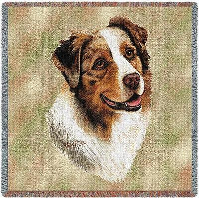 Lap Square Blanket - Australian Shepherd by Robert May 1183