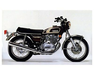 1975 Yamaha XS500 Motorcycle Factory Photo cb0645