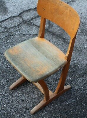 AMA 250 Big 2 Child's School Chair Children's Wooden Leap Vintage