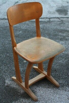 AMA 250 Big 3 Child's School Chair Children's Wooden Leap Vintage