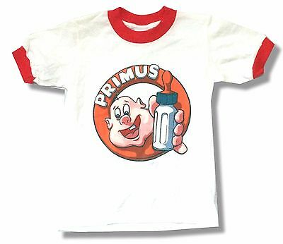 Primus Suck On This White Red Ringer Kids T-Shirt Youth Child Small New Official