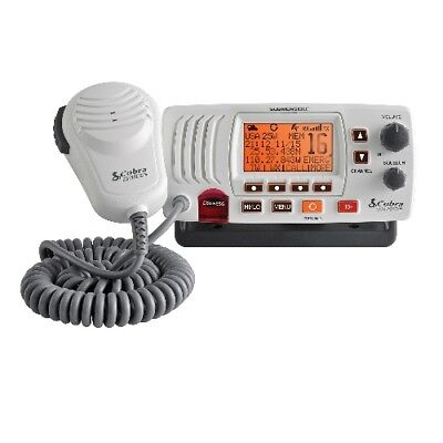 Cobra F57WEU  White Fixed Mount Marine VHF DSC Radio