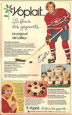 1978 Guy Lafleur Of The Hockey Team Canadiens De Montreal Original Ad In French