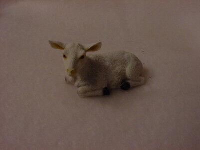 WHITE GOAT Figurine TiNY HAND PAINTED MINIATURE Mini Farm Collectible ANIMAL pet