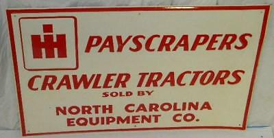International Harvest Carolina NC Tractor IH Sign TAC #020664 Authentic