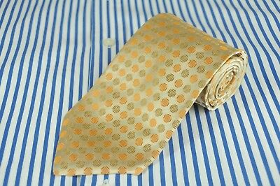 Hugo Boss Men's Tie Tuscany Gold Geometric Woven Silk Necktie 59 x 3.5 in.