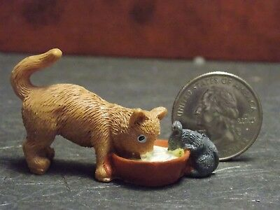 Dollhouse Miniature Pet Cat & Mouse Animals 1:12 inch scale D13 Dollys Gallery