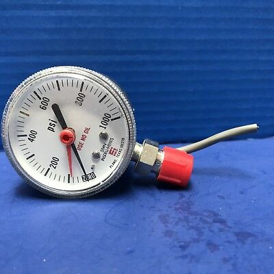"""SPAN IPS 122 TYPE 1 Indicating Pressure Switch, 0-1000 psi, 1/4"""" MVCR, Used"""