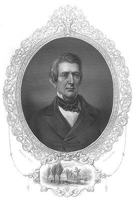 LINCOLN Secretary of State WILLIAM HENRY SEWARD ~ Old 1856 Art Print Engraving