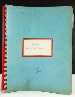 Vintage Ainsworth and Sons 1965 Training Session Manual for Balances