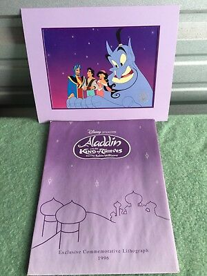 """Disney 1996 """"Aladdin and the King of Thieves"""" Lithograph with Mat and Envelope"""