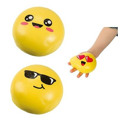 (1) Big Emoji Squishy Stress Ball Relief Anxiety Calming Fidget Autism ADHD