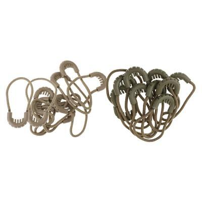 20pcs Zipper Pulls Cord Rope Ends Lock Zip Fastener For Jacket/Clothing/Bags