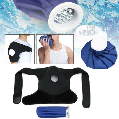 Reusable Shoulder Wrap & Ice Bag Pack Hot Cold Therapy Muscle Joint Pain Relief