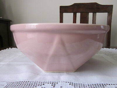 Large Vintage Pink Pottery Mixing Bowl ~ Diana ?