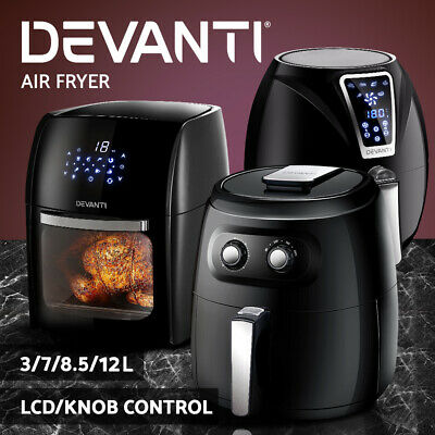 Devanti Air Fryer Oil Free Deep Fryers Healthy Cooker Kitchen Oven Convection