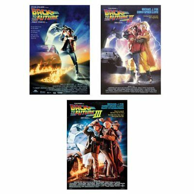 Back To The Future I, Ii, And Iii Movie Poster Set 27X40 Michael J Fox
