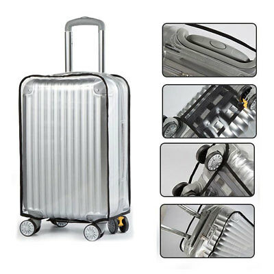 "Clear PVC Protective Travel Luggage Suitcase Cover Case 20"" 22"" 24"" 26"" 28"" 30"""