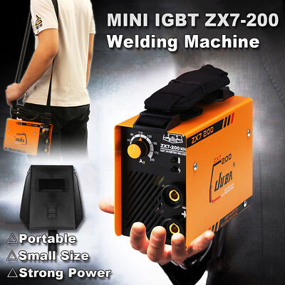 220V 5.5KW ZX7-200 Mini MMA ARC Welder DC IGBT Welding Machine Solder Inverter