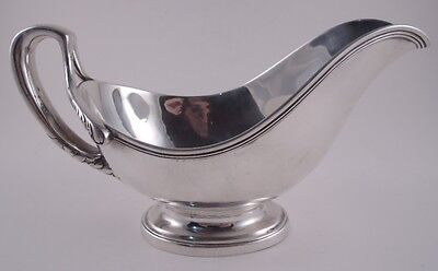 Tiffany Sterling Silver Elegant Antique Gravy Sauce Boat Foliate Split Handle