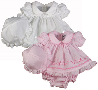 Premature baby dress girl sun hat knickers prem tiny small preemie early reborn