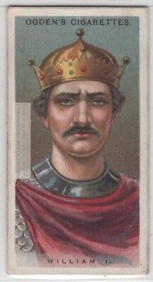 William The Conqueror King  England Duke of Normandy 90+ Y/O Trade Ad Card