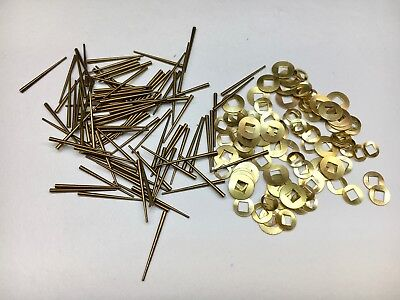 Clock Repair Brass Square Washers and Tapered Pins assortment 200 Piece
