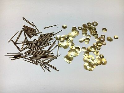 Clock Repair Brass Round Washers and Tapered Pins assortment 200 Piece