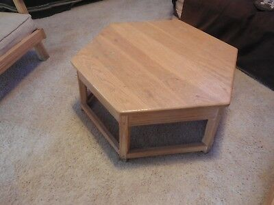 Brandt ranch Oak Table coffee living room home decor kitt peak vintage western