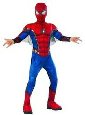 Spiderman Homecoming Marvel Muscle Chest Child Costume Medium Size 8-10 Rubies