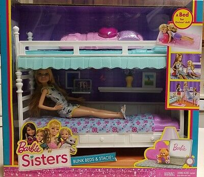 Barbie Sisters Stacie Doll With Bunk Beds New Nrfb Dgx45 125 00