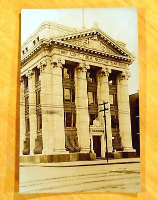 First Agricultural National Bank Pittsfield MA W.H.Benedict Photo Postcard c1909