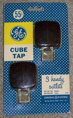 Vintage Ge, General Electric, Cube Taps, New In Package, Nos, Possibly Bakelite