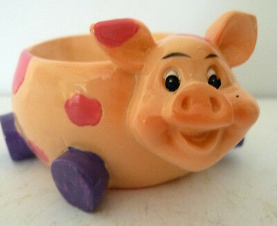 Cute Pink Spotted Piggy Egg Cup! Brand New! Great For Collectors!