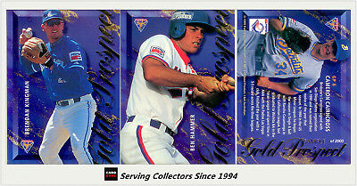 1995 Futera ABL Trading Cards Gold Prospect Chase Cards SAMPLE SET (6) - Rare