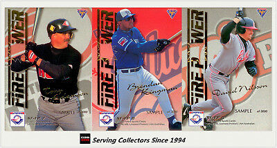 1995 Futera ABL Trading Cards Strikeforce/ Firepower Subset SAMPLE CARD SET (9)