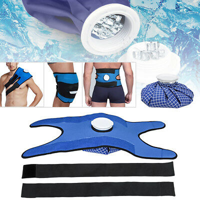 "6/9/11"" Hot Cold Therapy Reusable Ice Bag Pack+ Wrap For Knee Shoulder Back Pain"