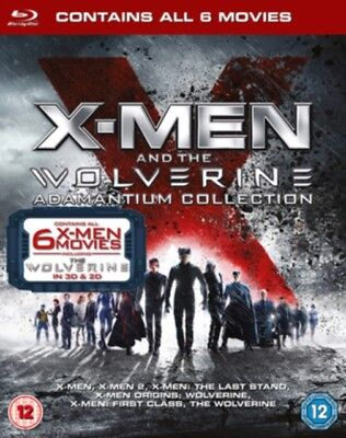 X-Men and the Wolverine Adamantium Collection Blu-ray Region B New (6 Movies)