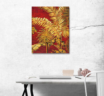 Tropical Coconut Banana Tree Leaves Poster Canvas Print Art Wall Home Decorative