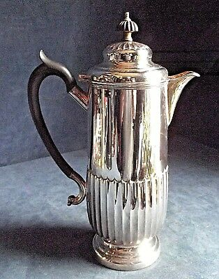 "SUPERB 10"" ~ Mappin & Webb ~ SILVER Plated ~ FLUTED Juice / Water JUG ~ c1900"