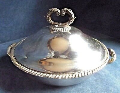 SUPERB Large ~ Family CRESTED ~ Sheffield SILVER Plate ~ SERVING DISH ~ c1820