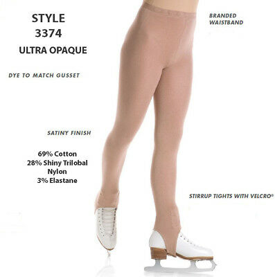 New Mondor 3374 Opaque Stirrup Ice Skating Tights - Child & Adult Sizes
