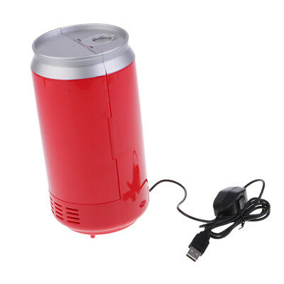 Universal Car Mini Fridge Warmer and Cooler Auto USB Refrigerator Office Red