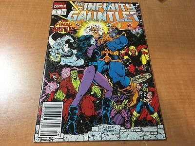 The Infinity Gauntlet 1991 Marvel Comic Book #6 EF Thanos