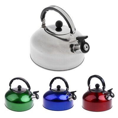 4/5L Outdoor Camping Stainless Steel Whistling Kettle Kitchen Coffee Tea Pot