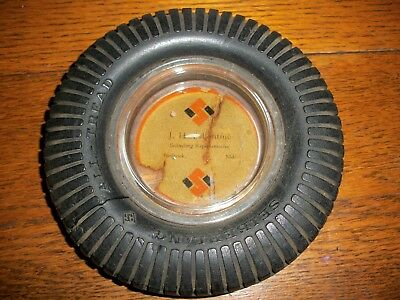 Vintage SEIBERLING ALL TREAD TIRES Tire Ashtray J. H. Ballentine Frederick MD