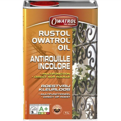 RUSTOL OWATROL 1 Litre DIRECT STOP ROUILLE INCOLORE ADDITIF PEINTURE BRICOLAGE