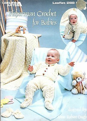 FISHERMAN CROCHET FOR BABIES - 7 PIECE LAYETTE - 10 pp BOOKLET