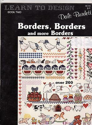 DALE BURDETT Learn to Design NEEDLEWORK BORDERS OVER 200 DESIGNS  48 PAGES